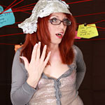 Ladyboy tin foil hat conspiracy. The truth is out there...somewhere. There's a tranny porn conspiracy out there and I'm sure of it. I've channeled my inner Agent Scully and poured over charts and diagrams, but I can't make the right connections to uncover who could be behind this nefarious scheme!
